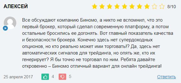 Отзывы о Binomo в России