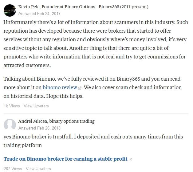 Анализ отзывов о Binomo в англоязычных сообществах