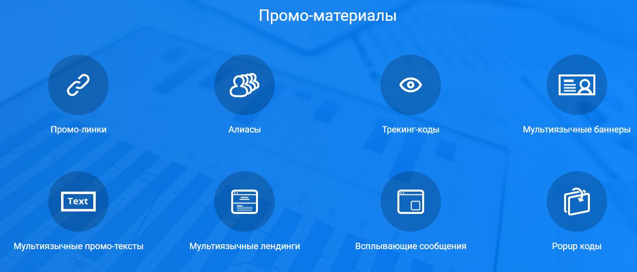 Промо-материалы для партнёрской программы ExpertOption