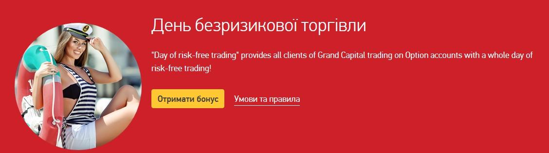 Бонуси від брокера бінарних опціонів Grand Capital